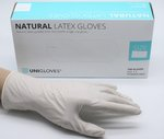 NATURAL Latexhandschuhe puderfrei (Unigloves)
